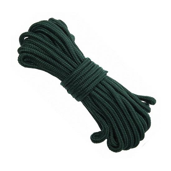 Groen nylon touw 9 mm dik