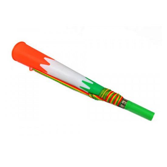 Groen wit en oranje hoorn 23 cm