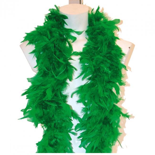 Groene boa met veren
