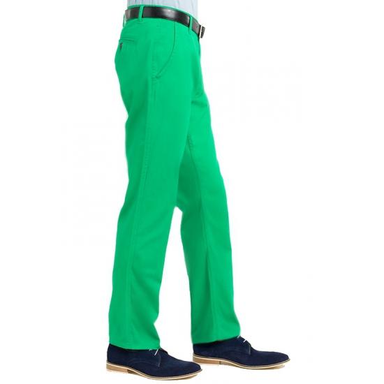 Groene chino broek heren