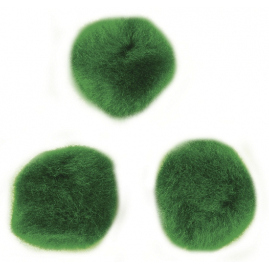 Groene decoratieve pompons 15 mm
