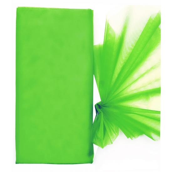Groene organza stof 150 x 300 cm