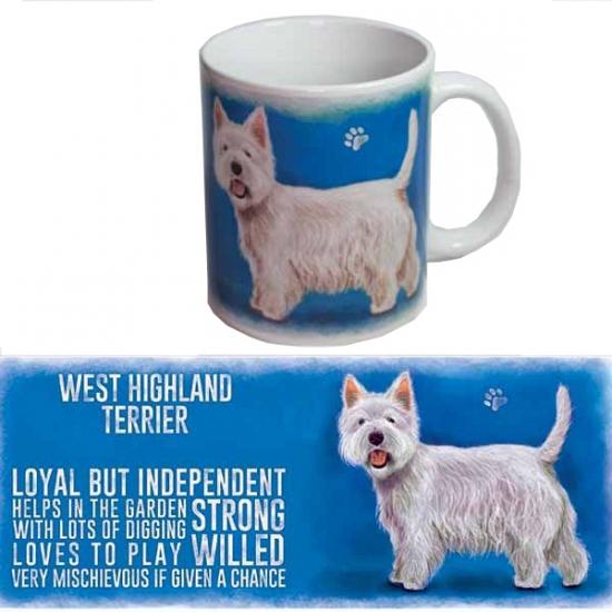 Grote theemok West Higland terrier