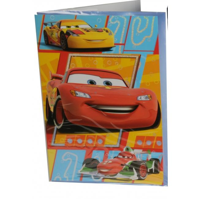 Grote verjaardagskaart Cars 26 x 38 cm