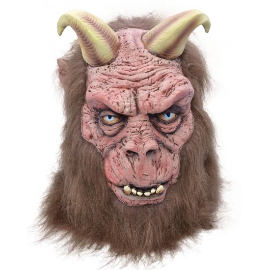 Halloween Monster masker met hoorn