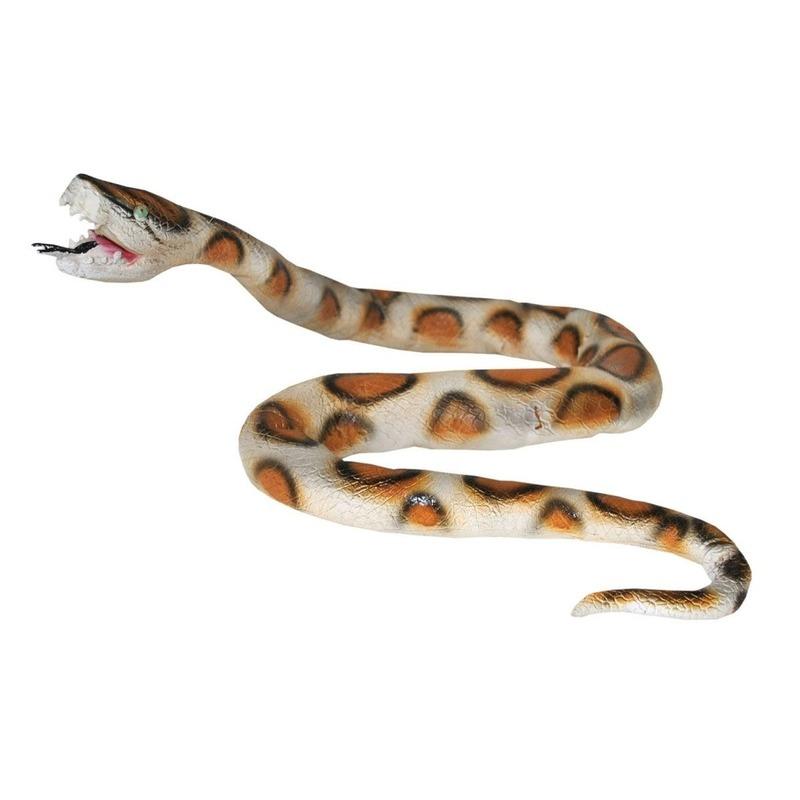 Halloween Nep python slang van plastic