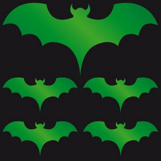 Halloween Reflecterende sticker groene vleermuis