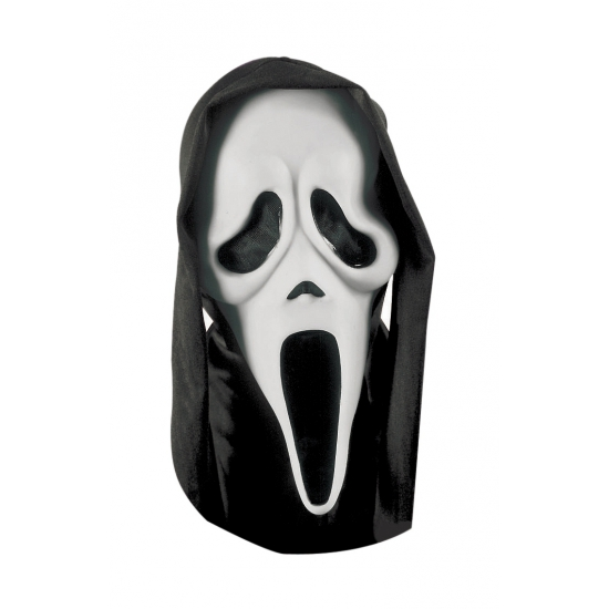 Scream maskers zwarte kap