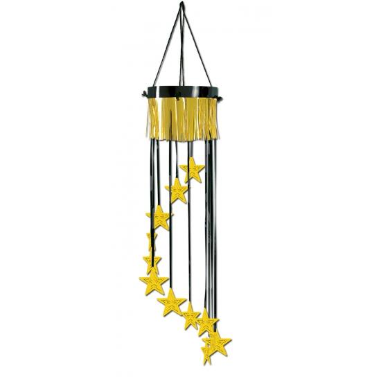 Hangdecoratie met gouden sterren