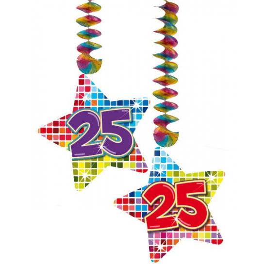 Hangdecoratie sterren 25 jaar
