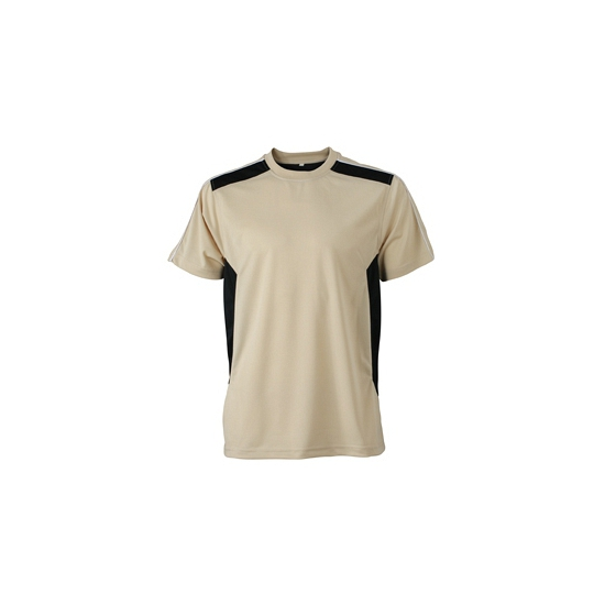 Heren sport of werk t shirt beige
