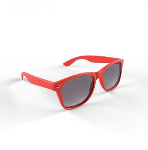 Hippe zonnebril met rood montuur