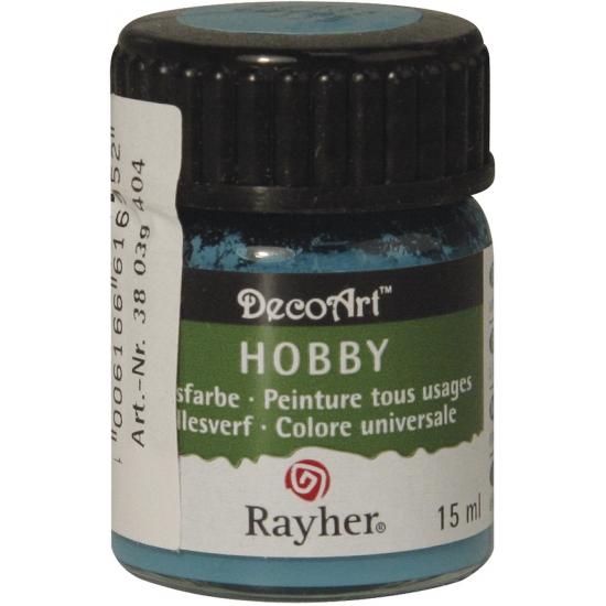 Hobby materialen verf turquoise 15 ml