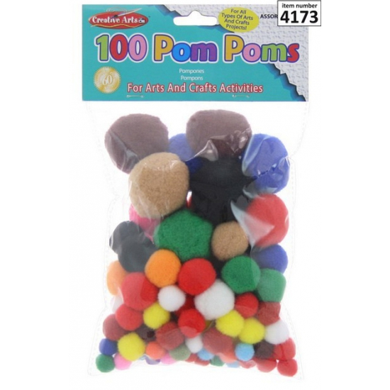 Hobby pompons 100 stuks
