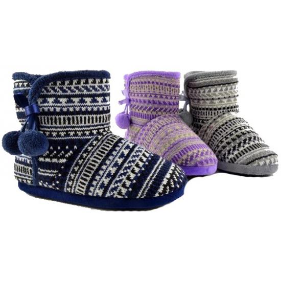 Hoge dames pantoffels blauw