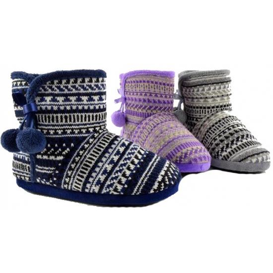 Hoge dames pantoffels paars