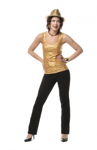 Holografische top goud voor dames