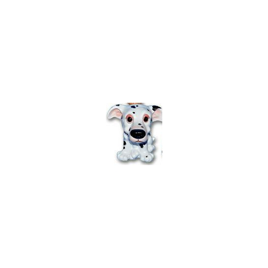 Honden beeldjes zittende Dalmatier pup 13 cm