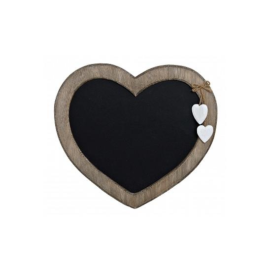 Houten hart memo bord