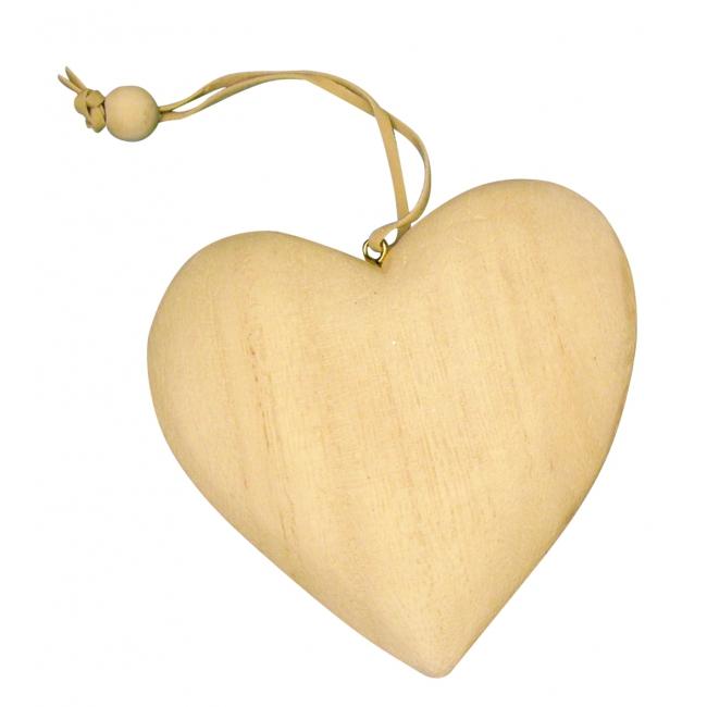 Houten knutsel hart
