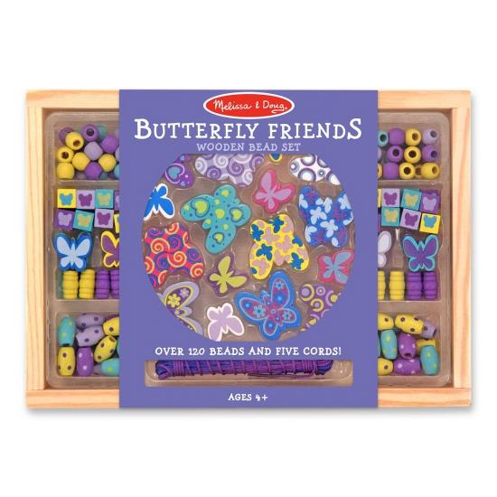 Houten kralenset vlinders