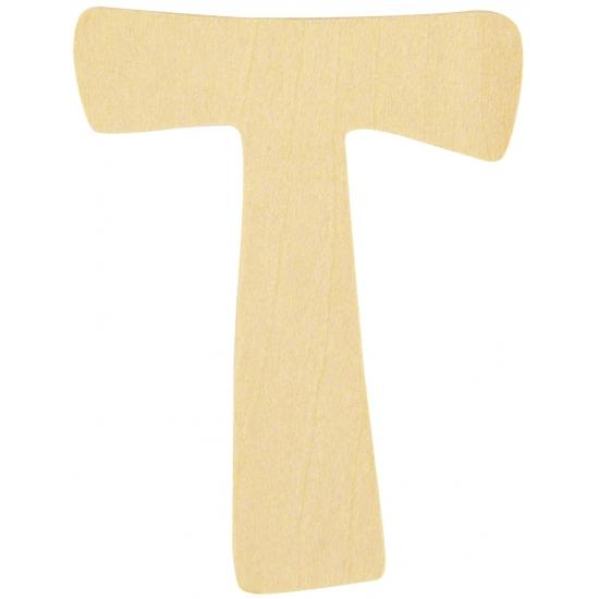 Houten namen letter T 6 cm