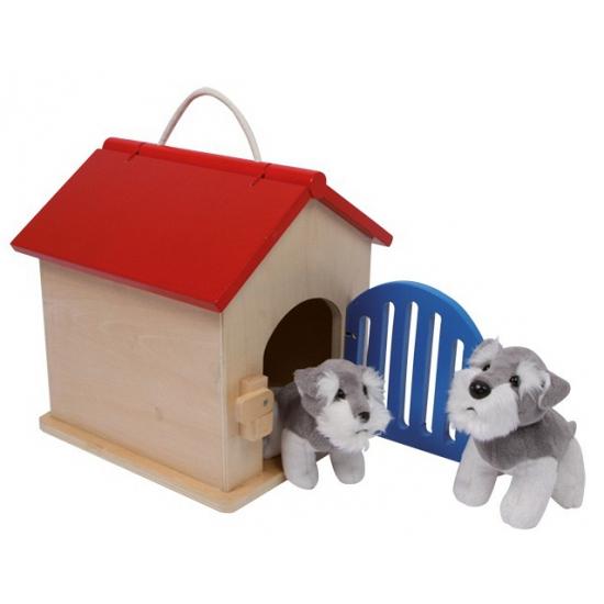 Houten speelgoed hondenhok