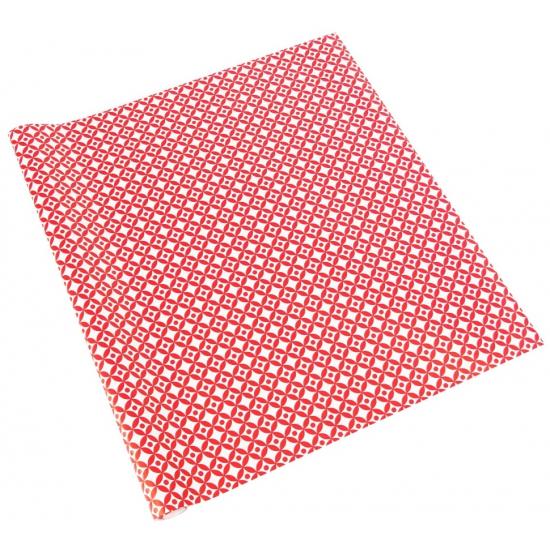 Inpakpapier rood/wit patroon