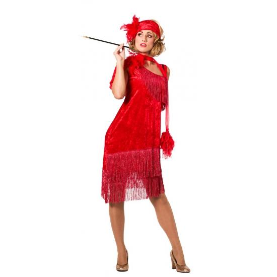 Rode glamour jurkje