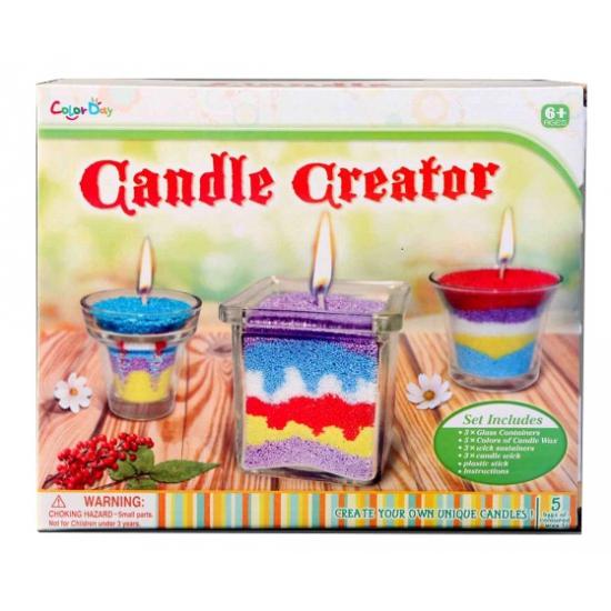 Kaarsen maken setje 3 stuks