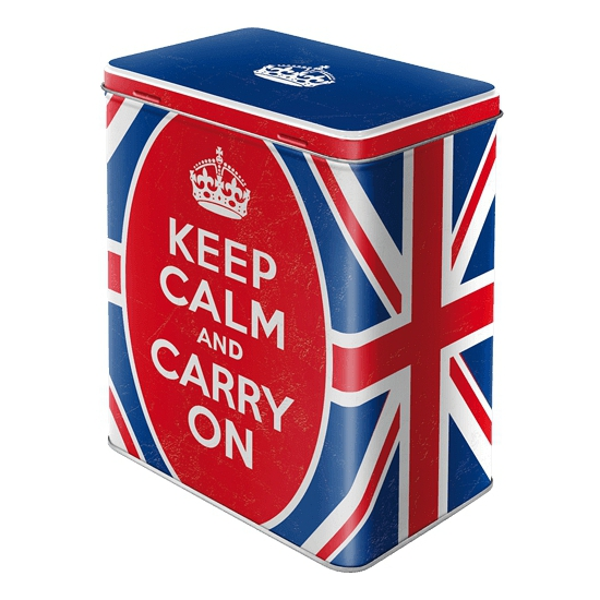 Keep calm and carry on bewaarblik 20 cm
