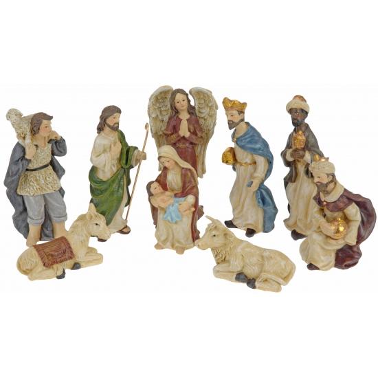 Kerststal figuren 9 stuks