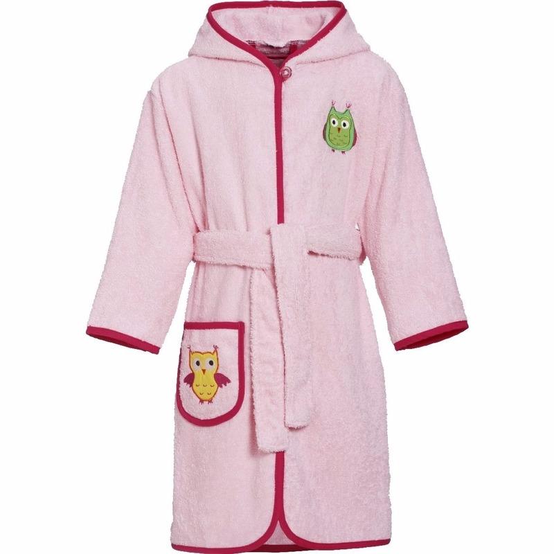 Kinder badjas roze