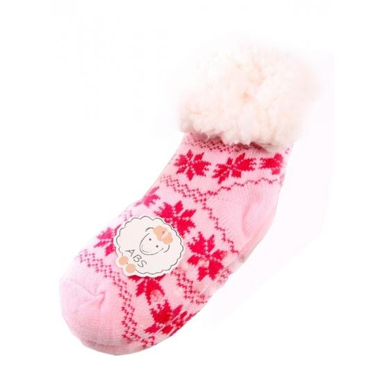 Kinder huissokken roze/fuchsia