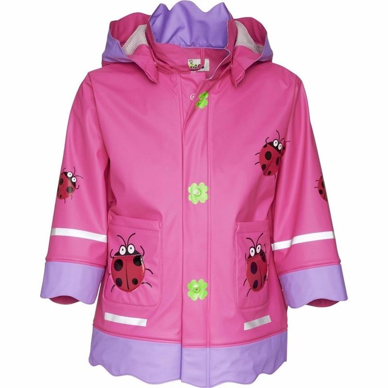 Kinder regenjas  lieveheersbeestje design