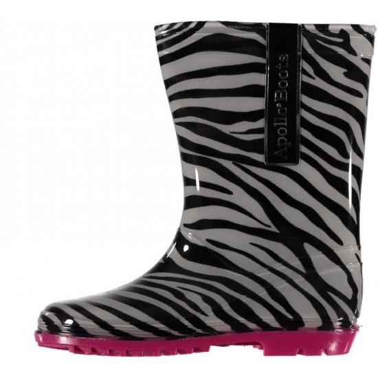 Kinder regenlaarzen met zebra motief roze