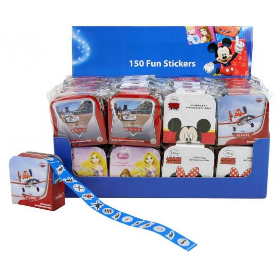 Kleine Cars stickers 150 stuks