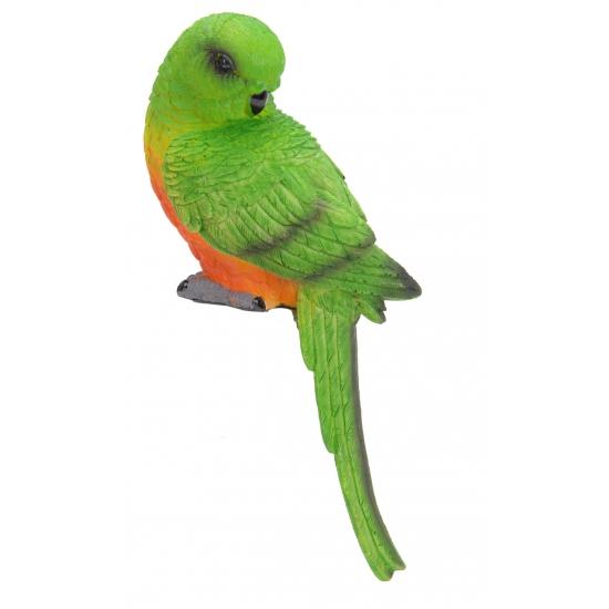 Kleine groene deco papegaai