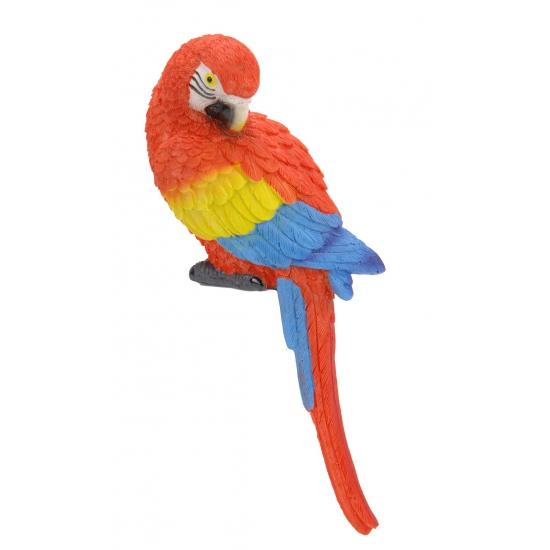 Kleine rode deco papegaai