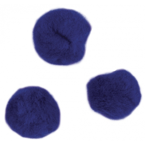 Knutsel pompons 15 mm donkerblauw