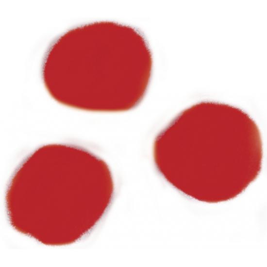 Knutsel pompons 15 mm rood