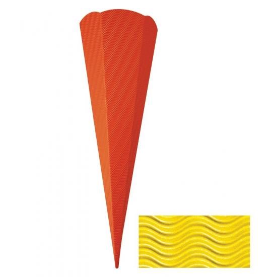 Knutsel schoolzak geel 68 cm