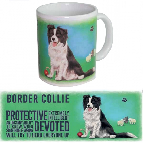 Koffie mok Border Collie hond 300 ml