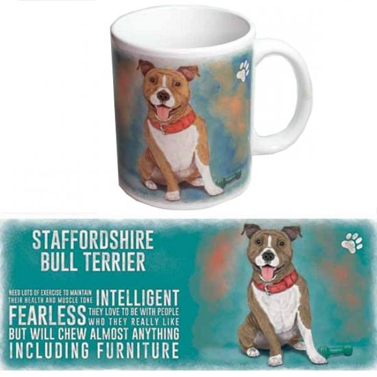 Koffie mok Bullterrier hond 300 ml