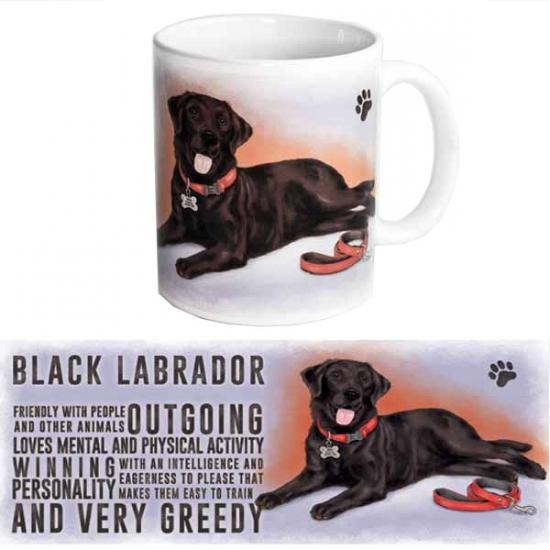 Koffie mok zwarte Labrador hond 300 ml