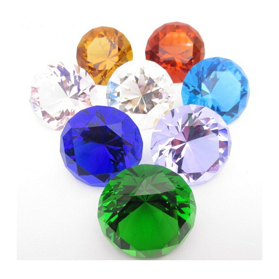 Kristallen diamant lila 4 cm