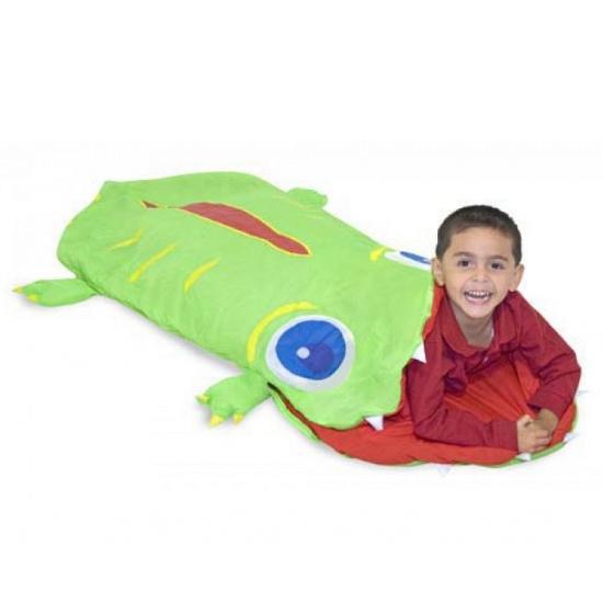 Krokodil slaapzak groen