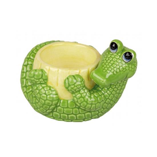 Krokodil thema eierdop 6 cm