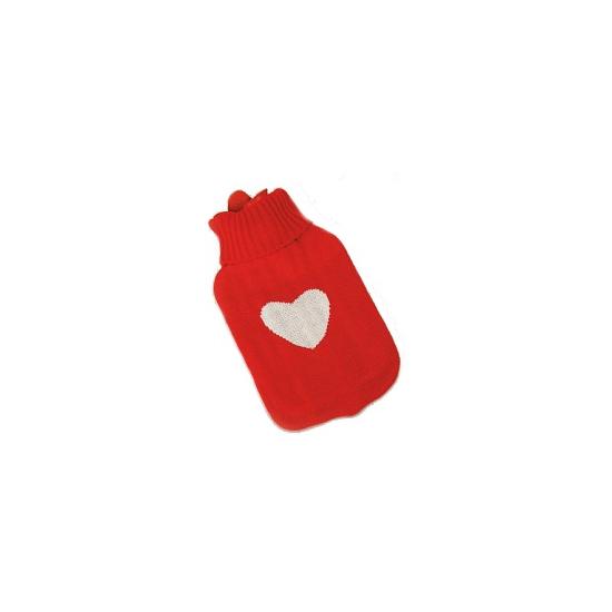 Kruik rood met wit hartje 35 cm