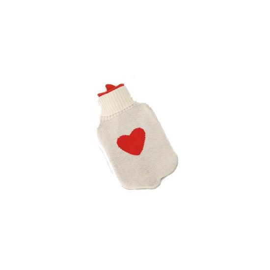 Kruik wit met rood hartje 35 cm